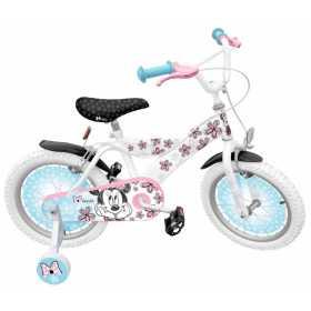Bicicleta pentru fetite cu roti ajutatoare, 16'' 5-7 ani, Minnie Mouse Stamp