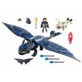 Playmobil – Hiccup, Toothless Si Pui De Dragon How to train your dragon