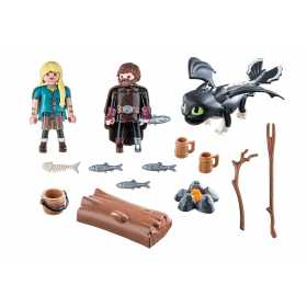 Playmobil Dragons– Hiccup, Astrid Si Pui De Dragon How to train your dragon