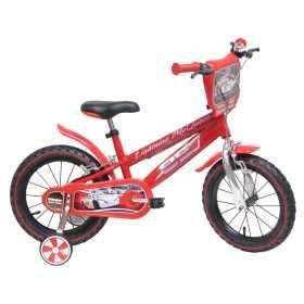 """Bicicleta pentru baieti din otel cu roti ajutatoare si spite metalice 14"""" Denver Cars"""