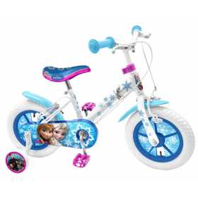"""Bicicleta pentru fetite cu roti ajutatoare, 16"""" 5-7 ani Frozen"""