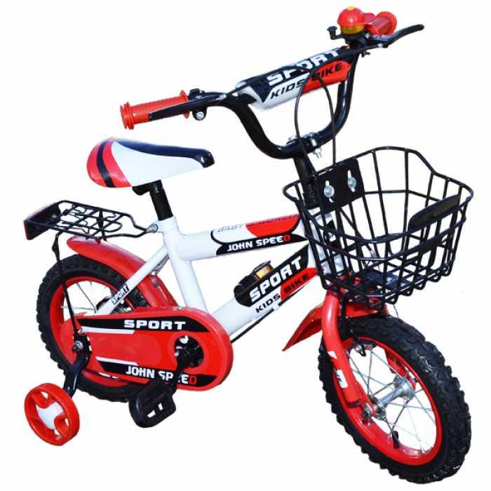"""Bicicleta pentru copii cu roti ajutatoare, cos de depozitare, 14"""" John Speed"""