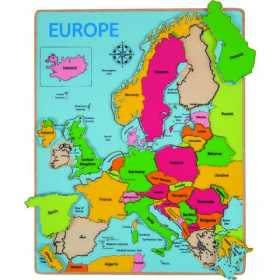 Puzzle incastru pentru copii - Harta Europei 25 piese