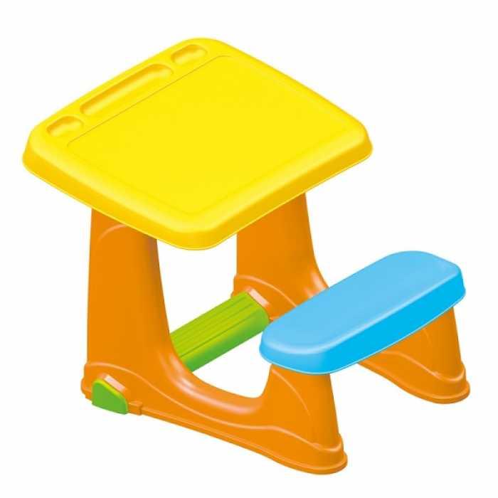 Scaune Din Plastic Pentru Copii.Birou De Jucarie Pentru Studiu Cu Scaun Din Plastic Pentru Copii Dolu