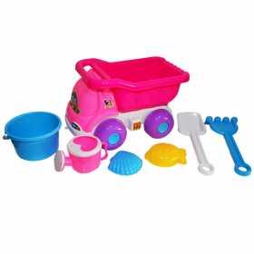Jucarii pentru plaja - Camion roz cu accesorii pentru joaca in nisip