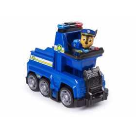 Figurina de jucarie cu masina de politie Chase Paw Patrol Ultimate Rescue Salvarea suprema