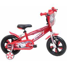 """Bicicleta pentru baieti din otel cu roti ajutatoare si spite din plastic 12"""" Denver Cars"""
