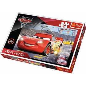 Puzzle clasic pentru copii - Cars, Fulger McQueen Invingatorul, 24 piese maxi