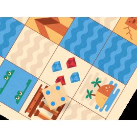 Accesorii pentru robotelul programator Cubetto - Harta Egiptului - Primo Toys