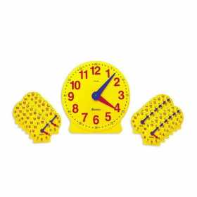 Ceasul didactic  Set de 25 de ceasuri pentru clasa si indrumator - Learning Resources