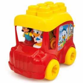 Set cuburi constructii moi parfumate Clemmy pentru copii, Autobuzul lui Mickey Mouse