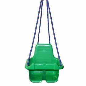 Leagan din plastic cu spatar pentru copii Verde