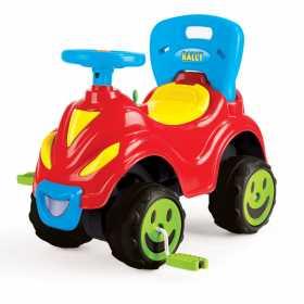 Masina din plastic cu pedale, volan claxon si spatar pentru copii Dolu