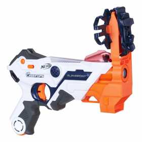 Arma de jucarie Nerf Laser Ops Alphapoint cu reactie senzoriala, lumini laser si sunete