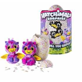 Ou surpriza Hatchimals cu gemenii roz sau galbeni