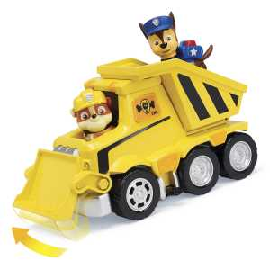 Figurina de jucarie cu buldozer Rubble Paw Patrol Ultimate Rescue Salvarea suprema