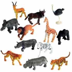 Set 60 figurine cu aspect realistic animalele junglei pentru sortat Learning Resources