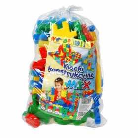 Cuburi constructii colorate pentru copii 40 piese Multicolore
