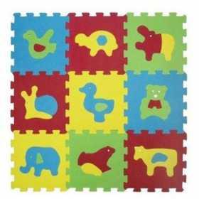 Covor puzzle Ludi din spuma pentru copii cu animale 9 piese