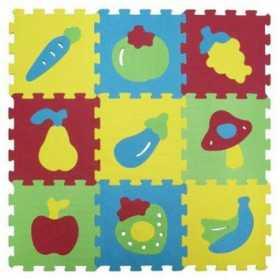 Covor puzzle Ludi din spuma pentru copii fructe 9 piese