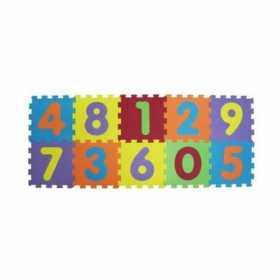 Covor puzzle din spuma EVA Ludi Cifre 10 piese 143 X 59 cm
