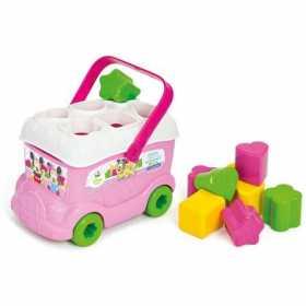 Cuburi constructie moi parfumate cu sortator pentru bebe Clemmy - Autobuzul lui Minnie Mouse