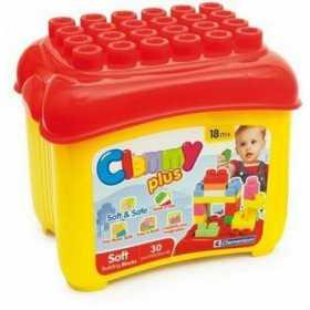 Cuburi constructie moi parfumate pentru bebelusi Clemmy in cutie de plastic 30 piese