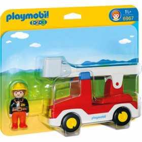 Masina de pompieri cu figurina sofer Playmobil 1 2 3