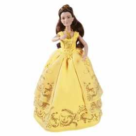 Papusa Disney Princess Belle Frumoasa si bestia in rochie de bal