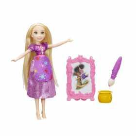 Papusa Disney Princess Rapunzel cu sevalet pentru pictura