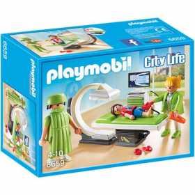 Set constructie cu figurine Playmobil - Camera cu raze x