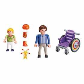 Set constructie cu figurine Playmobil - Copil in carucior cu rotile