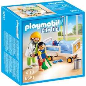 Set constructie cu figurine Playmobil - Doctor si copii