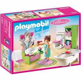 Set constructie cu figurine pentru copii  Playmobil - Baia papusilor
