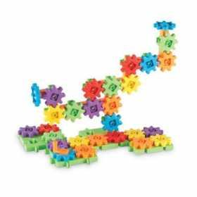 Set de constructie pentru copii cu roti dintate Learnig Resources Gears! Gears! Gears!- 60 de piese