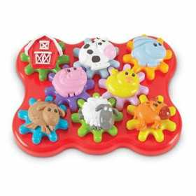 Set de constructie cu roti dintate Learning Resources - Animalele de la ferma