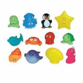 Set 12 jucarii de baie  pentru bebelusi Ludi animale marine