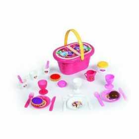 Cos picnic de jucarie cu accesorii pentru copii Smoby printese