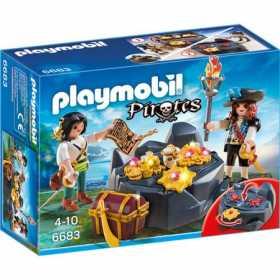 Set constructie cu figurine Playmobil - Descoperirea comorii