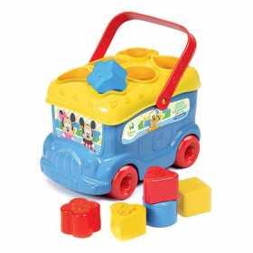 Jucarie sortator pentru copii sub forma de autobuz - Autobuzul lui Mickey Mouse, 9 piese