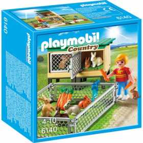Set figurine Playmobil - Tarc cu iepurasi