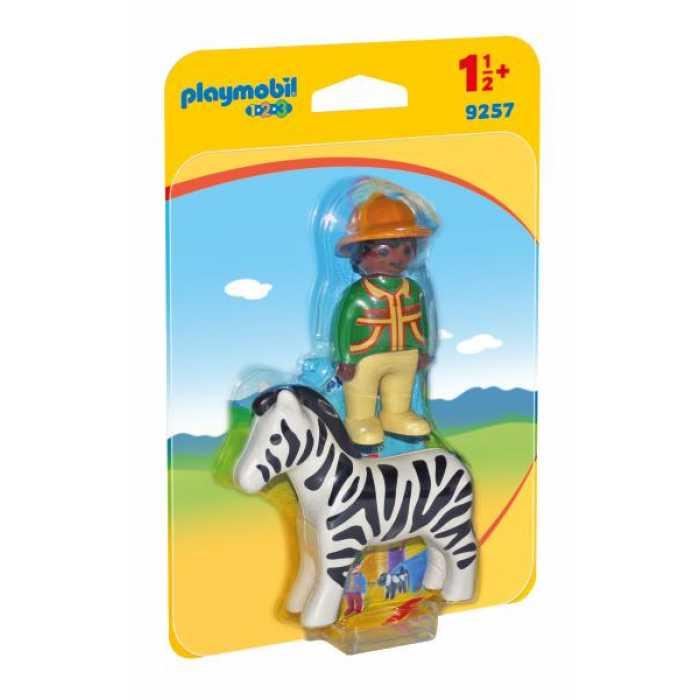 Figurine Playmobil - Padurar cu zebra