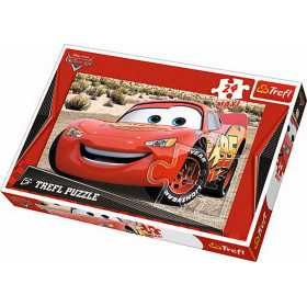 Puzzle clasic pentru copii - Cars, Fulger McQueen,24 piese Maxi