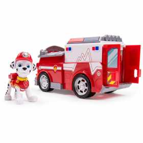 Figurina Paw Patrol Marshall si masina de pompieri