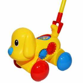 Jucarie pentru copii de impins, Catelus cu accesorii