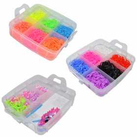 Set creativ pentru copii - Accesorii pentru realizarea bratarilor din elastic 3500 piese Multicolor