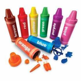 Set de sortat tuburi creioane colorate Learning Resources