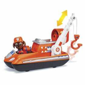 Figurina de jucarie Zuma cu aeroglisor Paw Patrol Ultimate Rescue Salvarea suprema